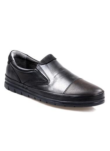 Greyder 63515 Siyah Ortapedik Günlük Erkek Deri Ayakkabı Siyah